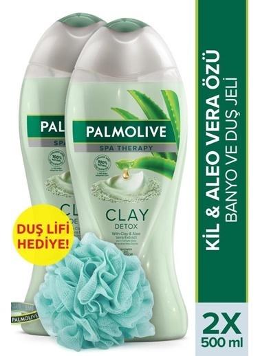 Palmolive Palmolive Spa Therapy Clay Detox Banyo Duş Jeli 500 ml ve Duş Lifi Hediye Renksiz